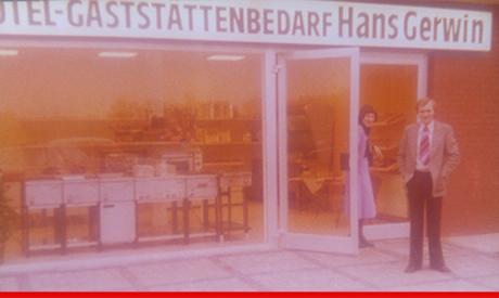 26. November 1976 Hans und Marlies Gerwin eröffnen ihre Austellungsräume